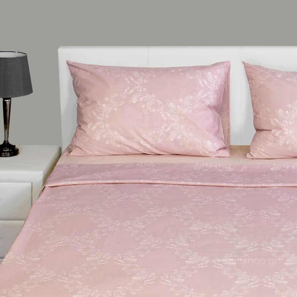 Παπλωματοθήκη Μονή (Σετ) Fennel Δαμασκηνό Ροζ