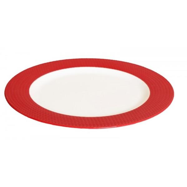 Πιάτο Φρούτου Espiel Dots Red RRA103K6