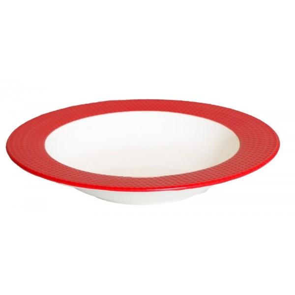 Πιάτο Βαθύ Espiel Dots Red RRA102K6