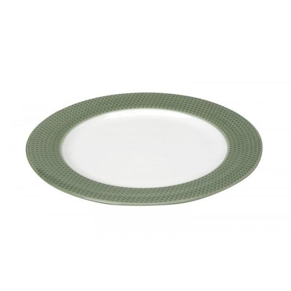Πιάτο Ρηχό Espiel Dots Green RRB101K6