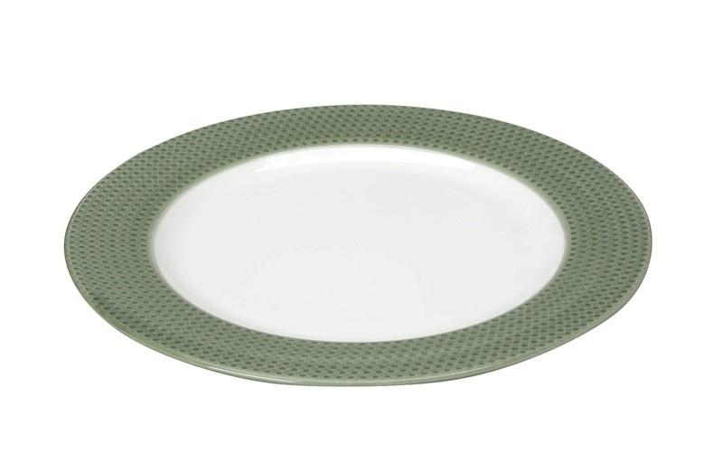 Πιάτο Ρηχό Espiel Dots Green RRB101K6 home   κουζίνα   τραπεζαρία   πιάτα   μπωλ
