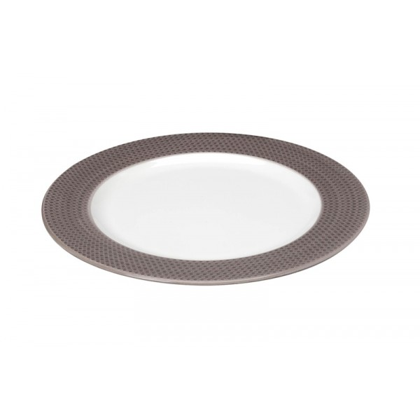 Πιάτο Ρηχό Espiel Dots Brown RRD101K6