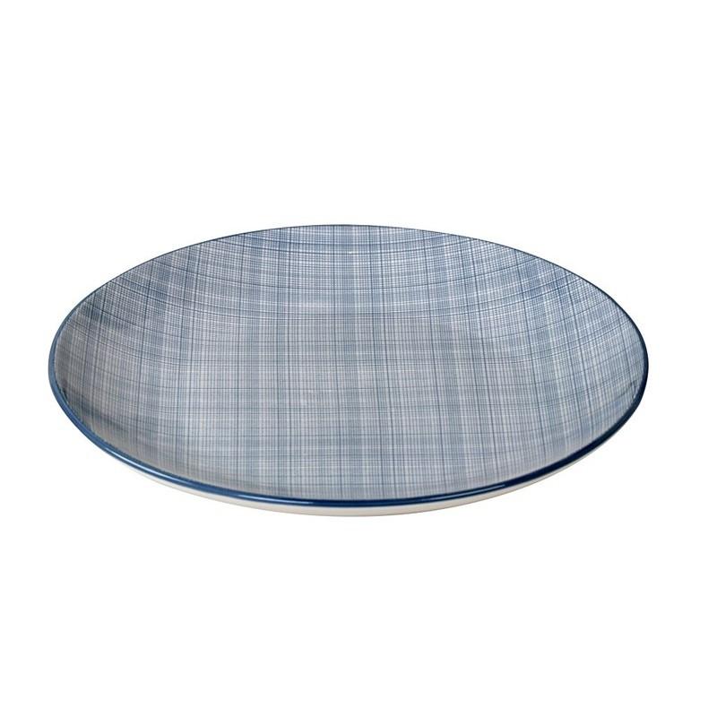 Πιάτο Ρηχό Espiel Καρό Γαλάζιο ATA101K6