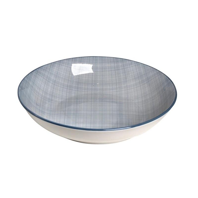 Πιάτο Βαθύ Espiel Καρό Γαλάζιο ATA107K6
