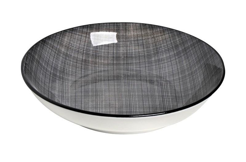 Πιάτο Βαθύ Espiel Καρό Μαύρο ATA108K6