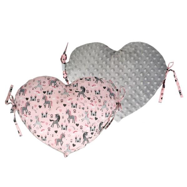 Προστατευτικό Μαξιλάρι Κούνιας Ninna Nanna Unicorn Καρδιά