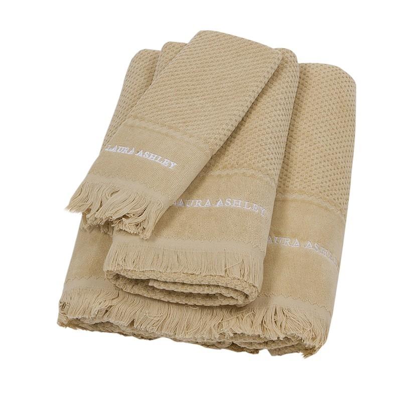 Πετσέτες Μπάνιου (Σετ 3τμχ) Laura Ashley Fringes Linen