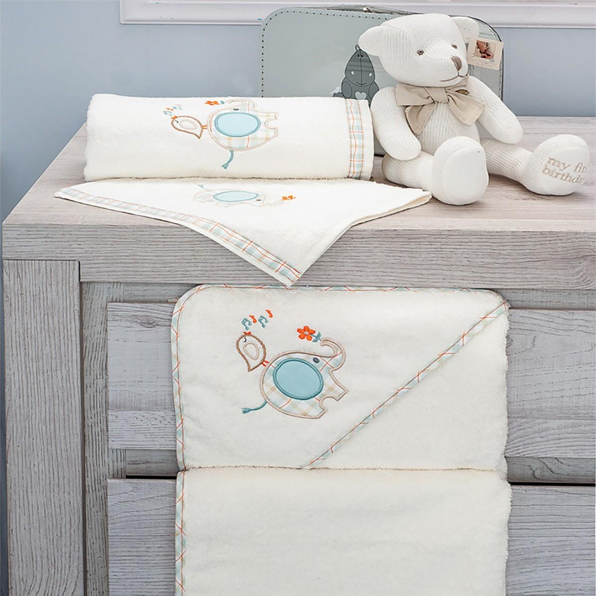 Βρεφικές Πετσέτες (Σετ 2τμχ) Baby Oliver Elephant Des 140