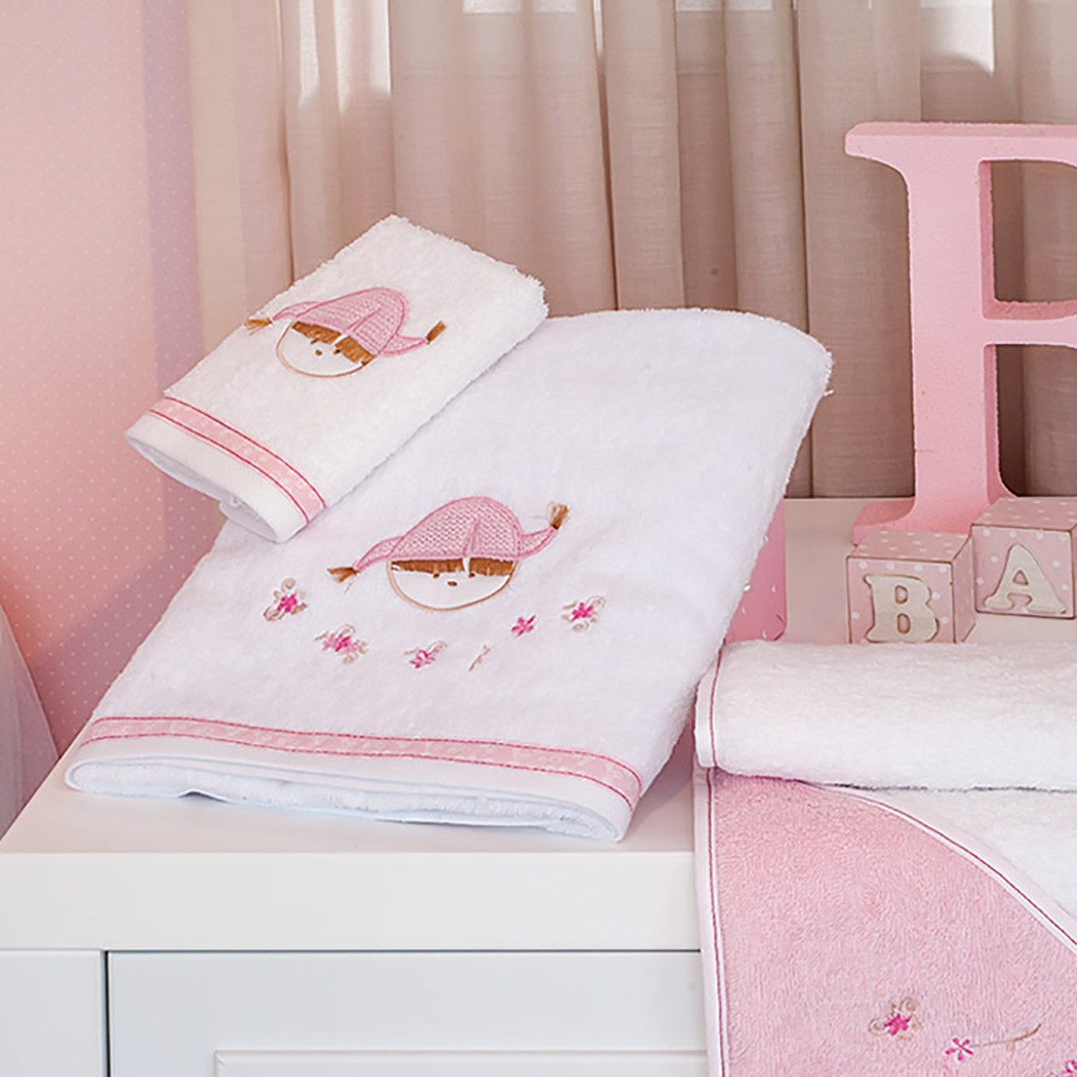 Πετσέτες Μπάνιου (Σετ 2τμχ) Baby Oliver Pink Booboo Des 142