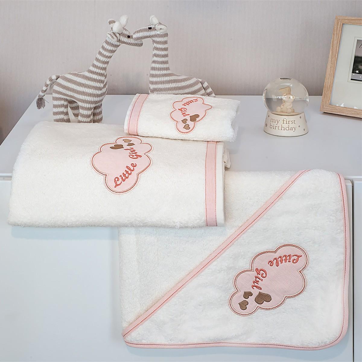 Πετσέτες Μπάνιου (Σετ 2τμχ) Baby Oliver Little Girl Des 144