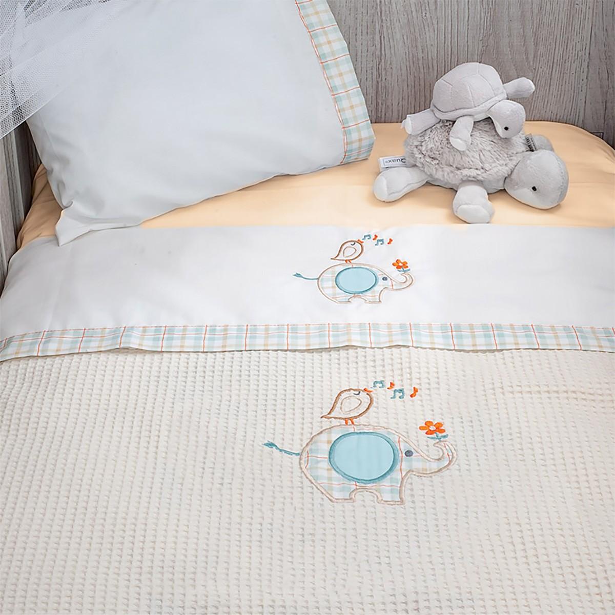 Κουβέρτα Πικέ Αγκαλιάς Baby Oliver Elephant 140