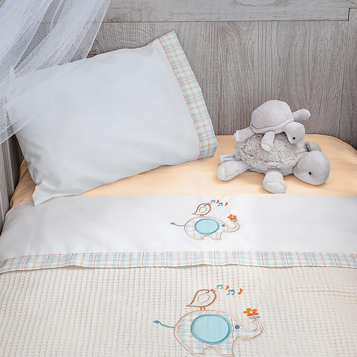 Σεντόνια Κούνιας (Σετ) Baby Oliver Elephant Des 140 home   βρεφικά   σεντόνια βρεφικά