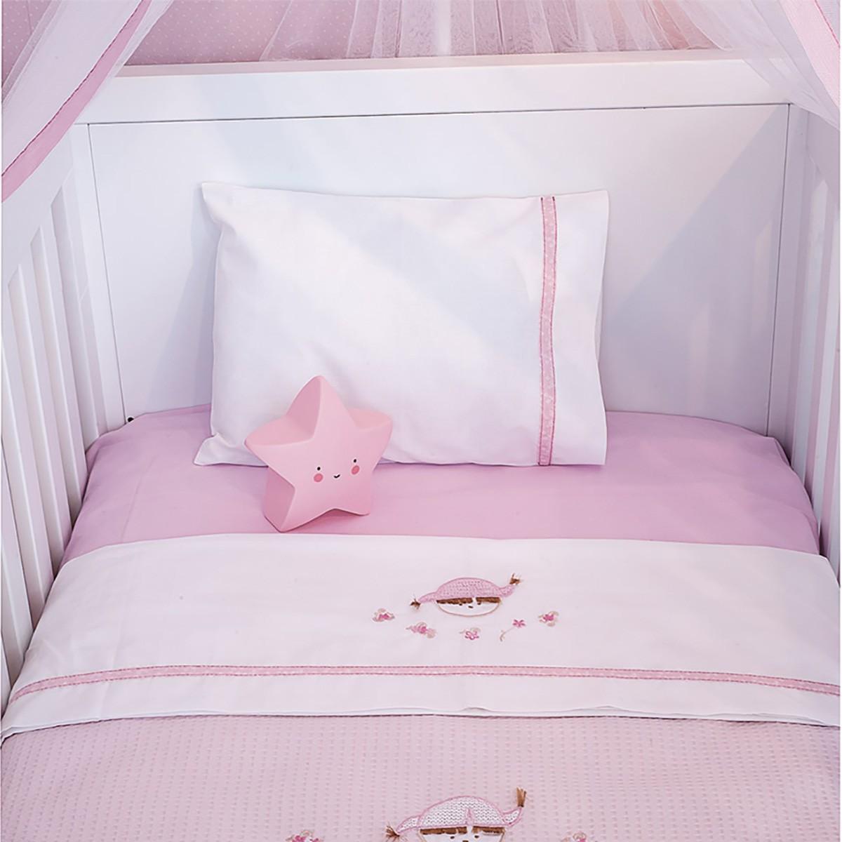 Σεντόνια Κούνιας (Σετ) Baby Oliver Pink Booboo 142