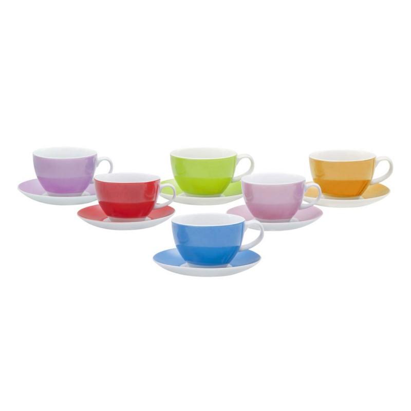 Φλυτζάνι Καφέ + Πιατάκι Marva Rainbow 330215