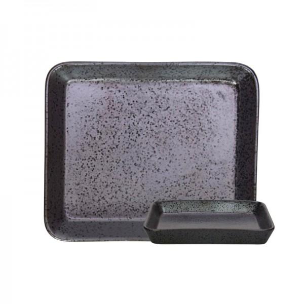 Πιάτο Γλυκού Marva Black Rectangle 02263350