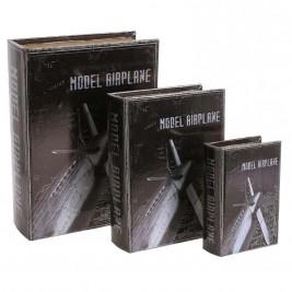 Κουτία/Βιβλία (Σετ 3τμχ) InArt Modern Airplane 3-70-899-0009