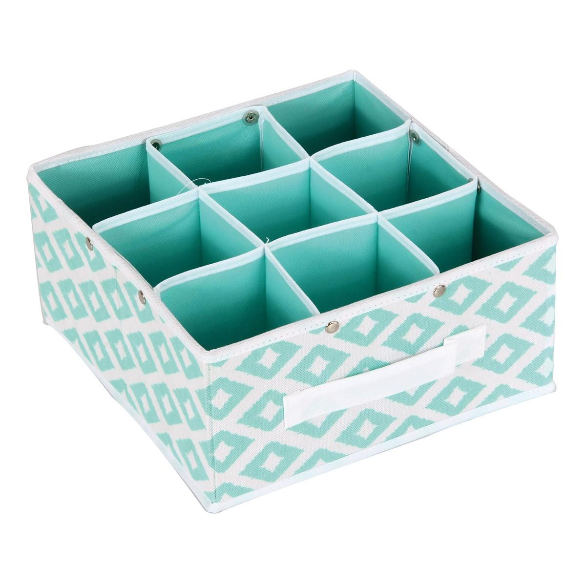 Κουτί Τακτοποίησης 9 Θέσεων εstia 03-2053 Turquoise home   κρεβατοκάμαρα   οργάνωση ντουλάπας