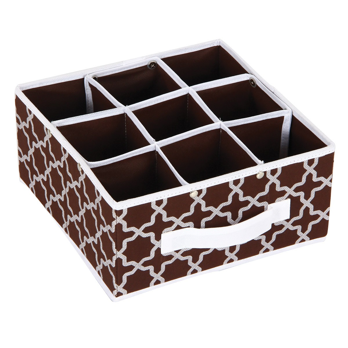 Κουτί Τακτοποίησης 9 Θέσεων εstia 03-4903 Brown home   κρεβατοκάμαρα   οργάνωση ντουλάπας