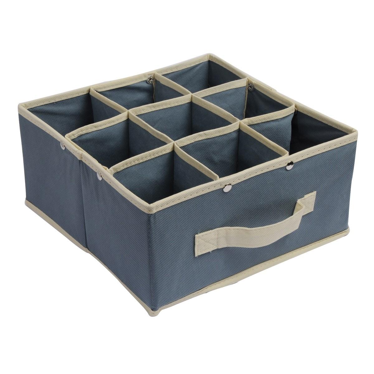 Κουτί Τακτοποίησης 9 Θέσεων εstia 03-4910 Grey home   κρεβατοκάμαρα   οργάνωση ντουλάπας