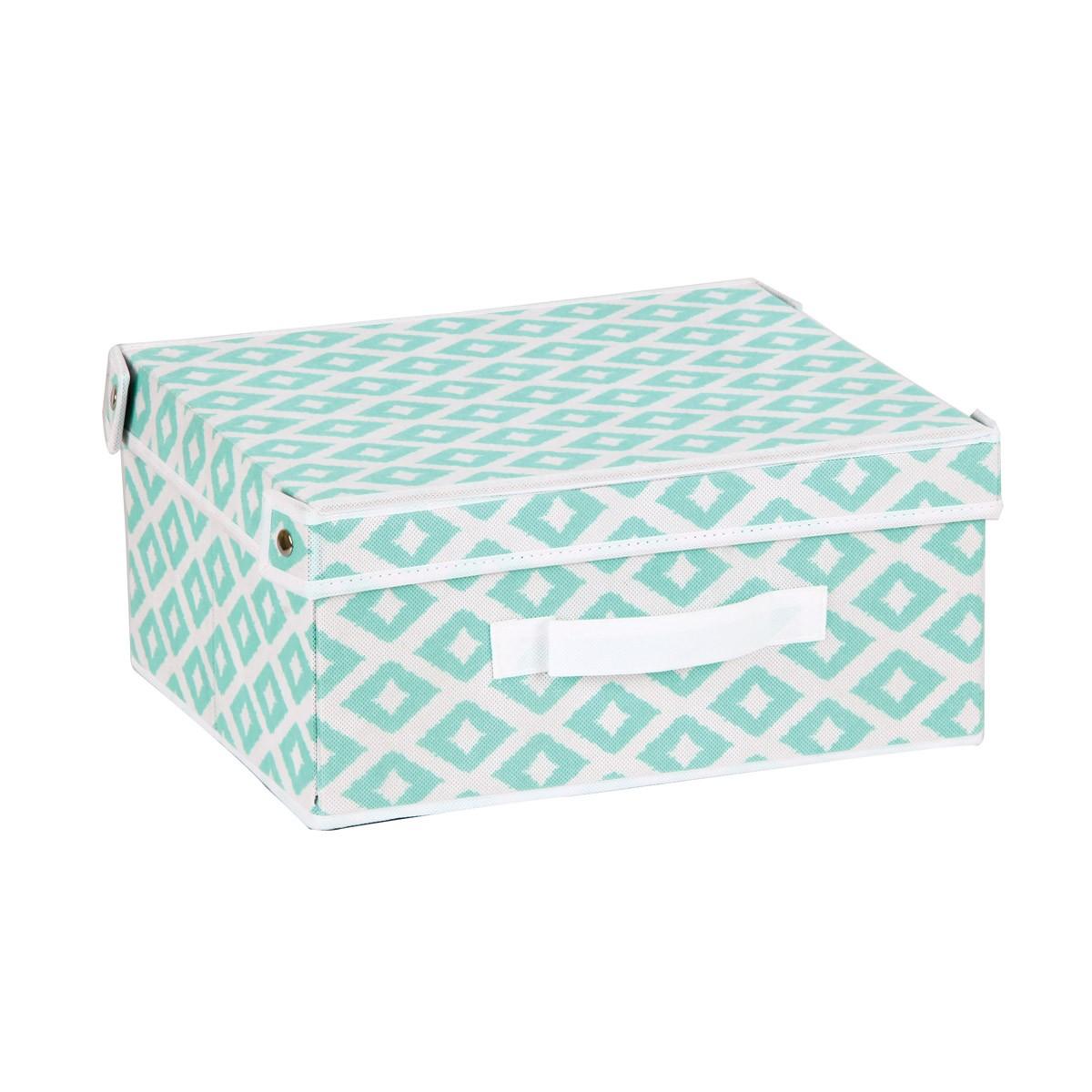 Κουτί Τακτοποίησης (33x28x15) εstia 03-2060 Turquoise home   κρεβατοκάμαρα   οργάνωση ντουλάπας