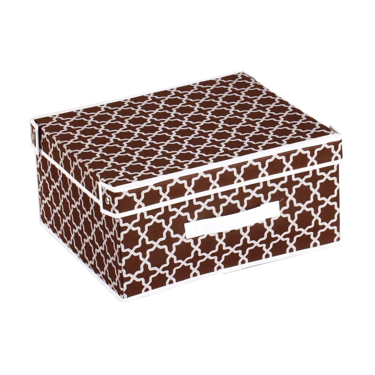 Κουτί Τακτοποίησης (33x28x15) εstia 03-4934 Brown home   κρεβατοκάμαρα   οργάνωση ντουλάπας