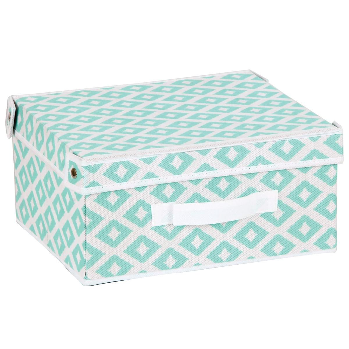Κουτί Τακτοποίησης (41x35x25) εstia 03-2077 Turquoise home   κρεβατοκάμαρα   οργάνωση ντουλάπας