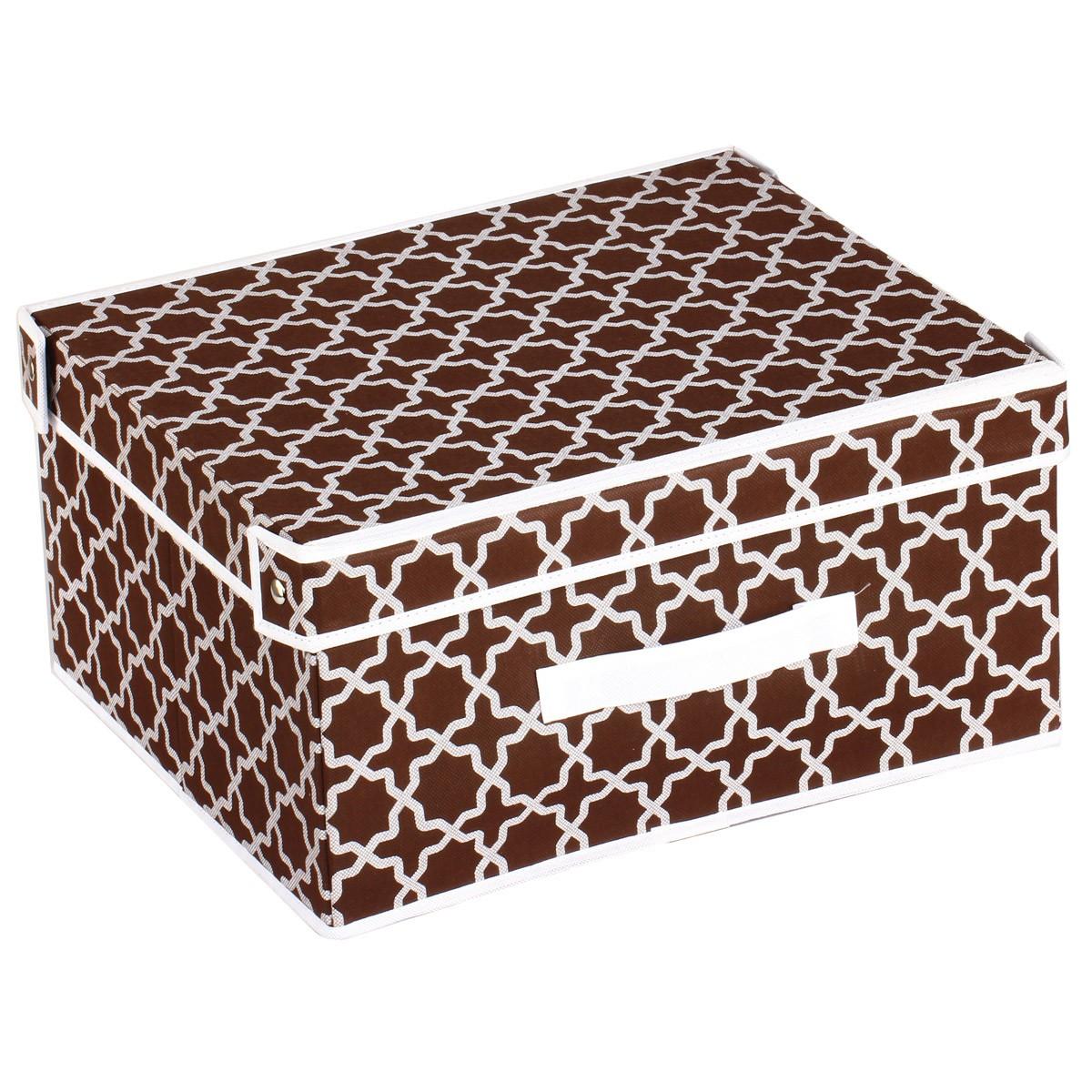 Κουτί Τακτοποίησης (41x35x25) εstia 03-4941 Brown home   κρεβατοκάμαρα   οργάνωση ντουλάπας