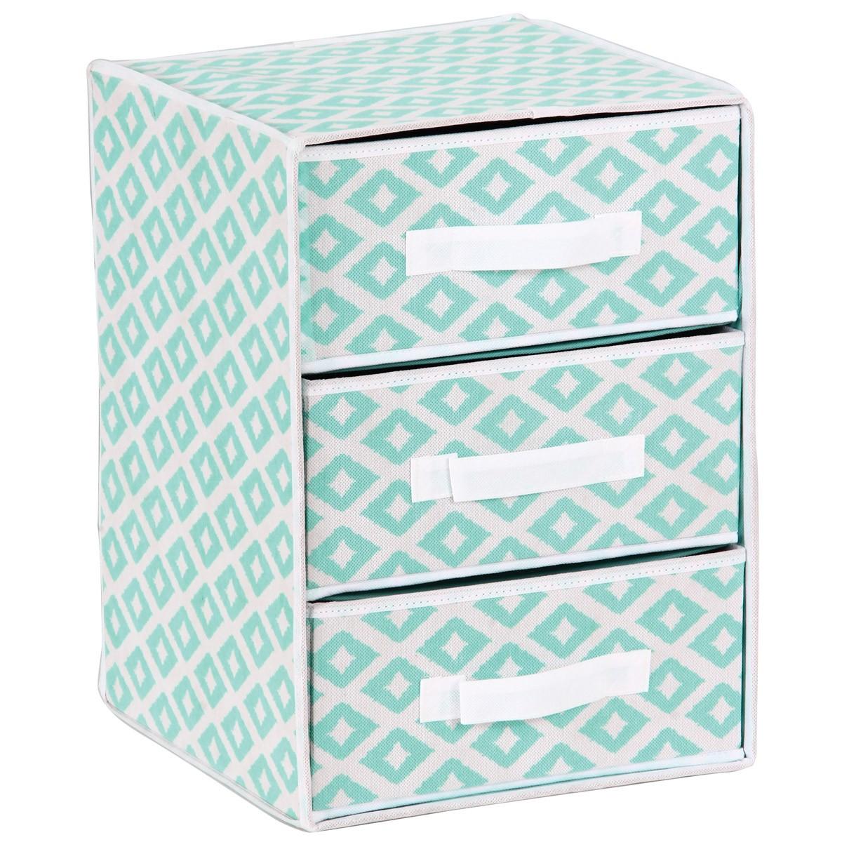 Συρταριέρα Τακτοποίησης 3 Θέσεων εstia 03-2091 Turquoise home   κρεβατοκάμαρα   οργάνωση ντουλάπας