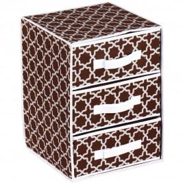 Συρταριέρα Τακτοποίησης 3 Θέσεων εstia 03-4965 Brown