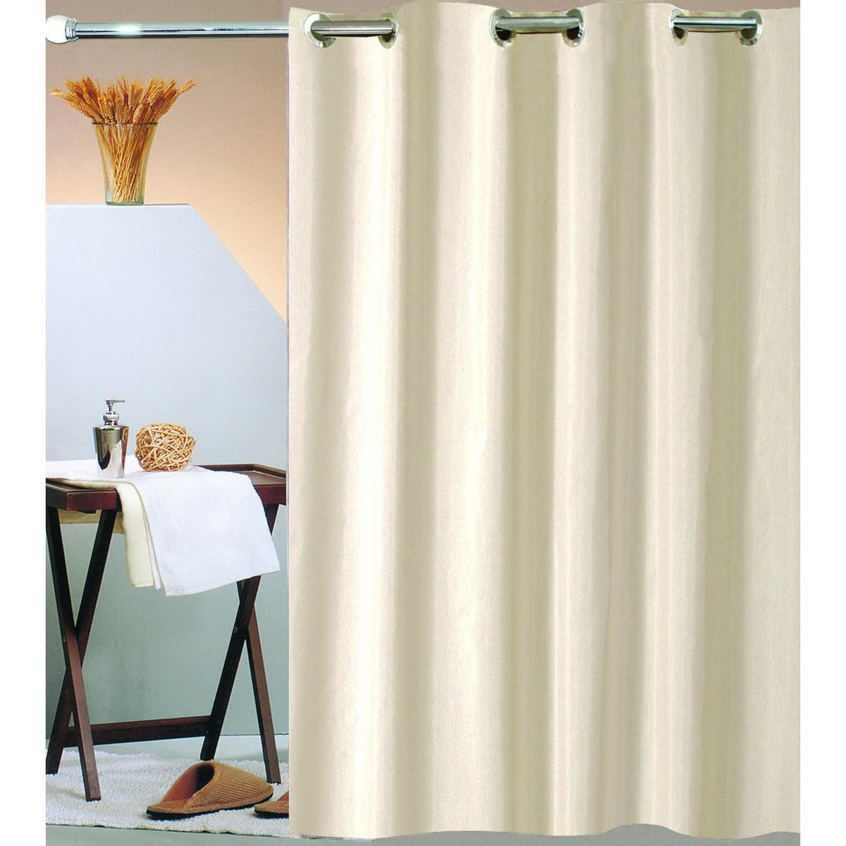 Κουρτίνα Μπάνιου (180×200) Με Τρουκς San Lorentzo Solid Beige
