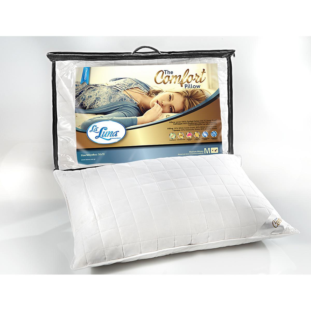 Μαξιλάρι Ύπνου Πουπουλένιο La Luna Comfort