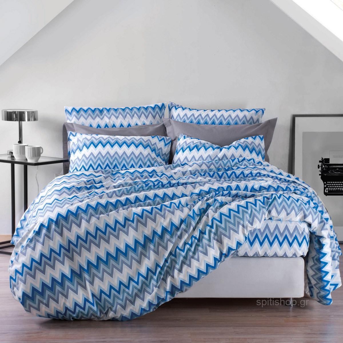 Σεντόνια Υπέρδιπλα (Σετ) Makis Tselios Zic Zac home   κρεβατοκάμαρα   σεντόνια   σεντόνια υπέρδιπλα