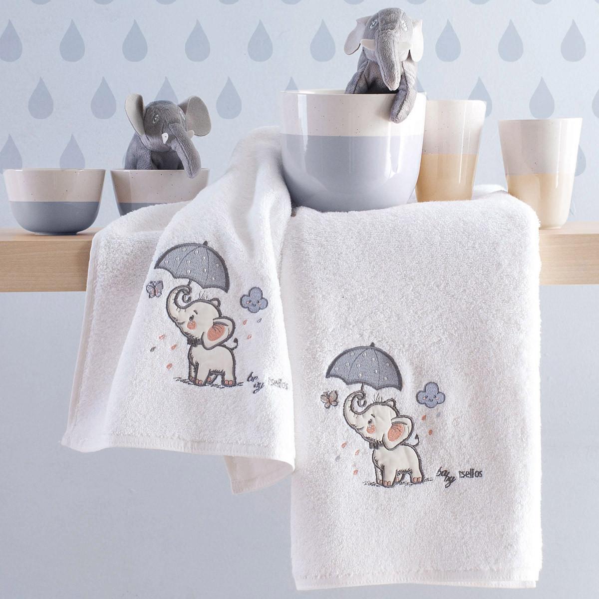 Βρεφικές Πετσέτες (Σετ 2τμχ) Makis Tselios Boom Grey