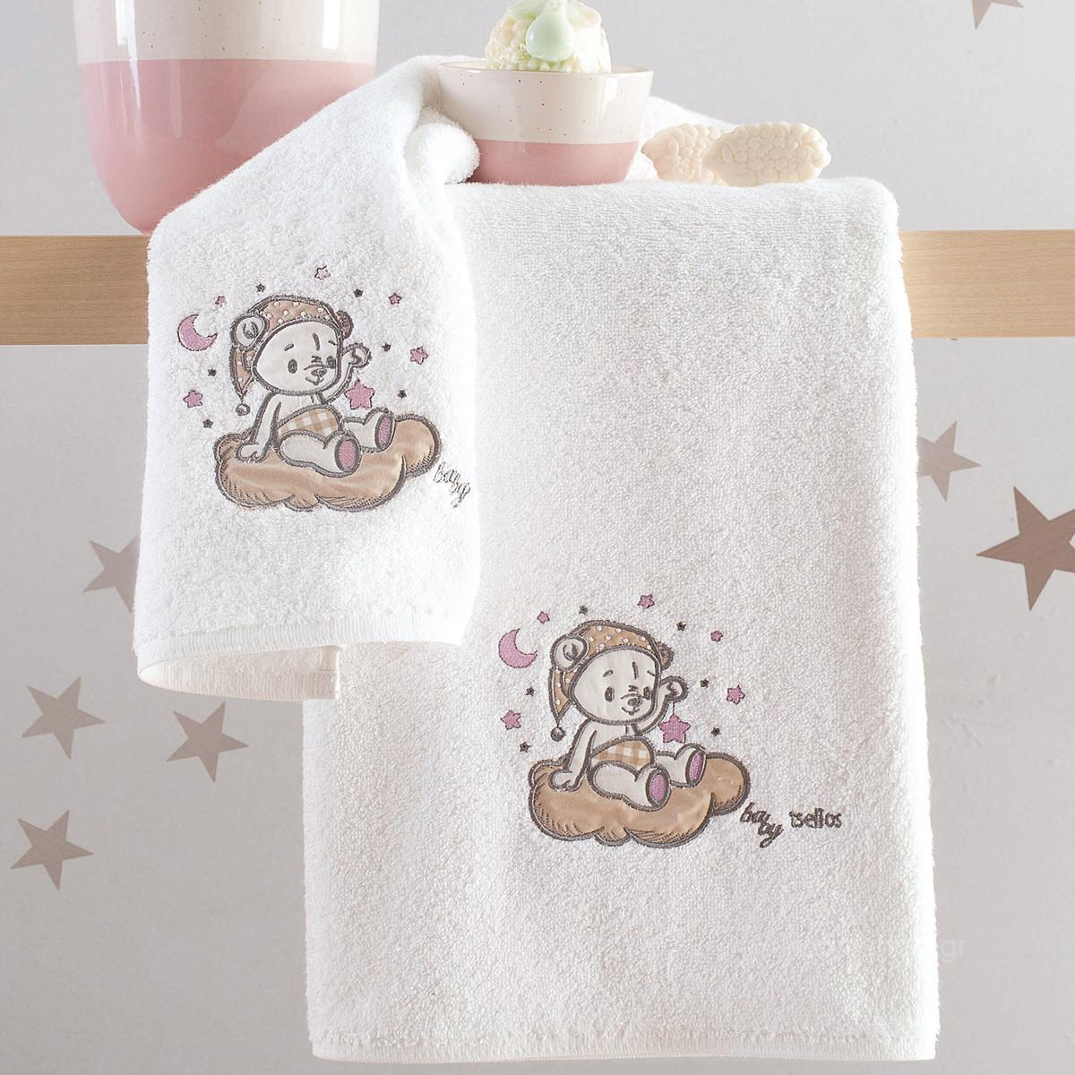 Βρεφικές Πετσέτες (Σετ 2τμχ) Makis Tselios Sweet Pink
