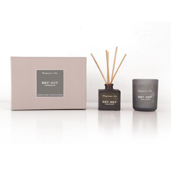Αρωματικό Χώρου Με Στικς + Αρωματικό Κερί Nef-Nef Μαύρο Ρόδι