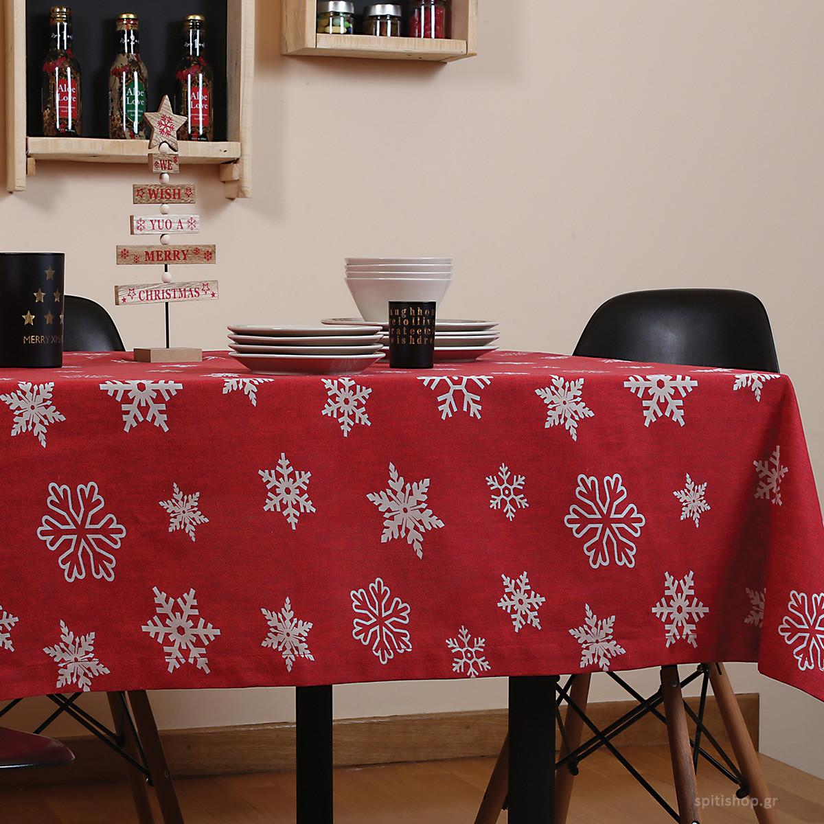 Χριστουγεννιάτικο Τραπεζομάντηλο (140×140) Nef-Nef Miracle