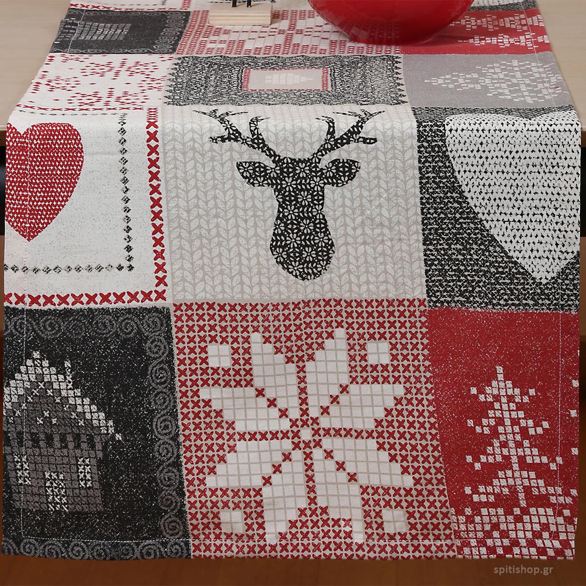 Χριστουγεννιάτικη Τραβέρσα Nef-Nef Christmas Patch