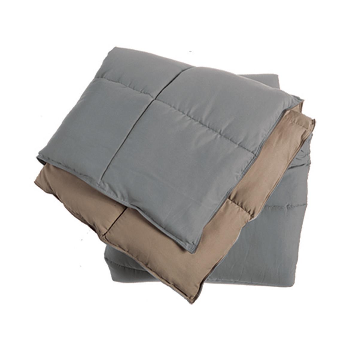 Πάπλωμα Μονό 2 Όψεων Nef-Nef Bicolor Grey/Beige