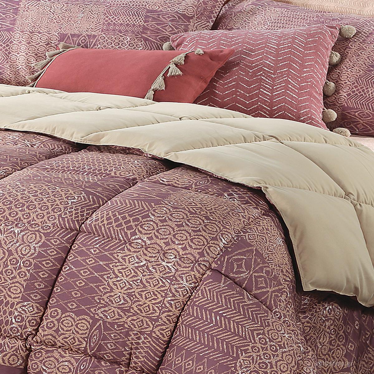 Πάπλωμα Υπέρδιπλο Nef-Nef Micro Cedar Purple