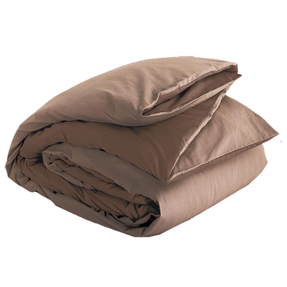 Παπλωματοθήκη Υπέρδιπλη Nef-Nef Basic Brown