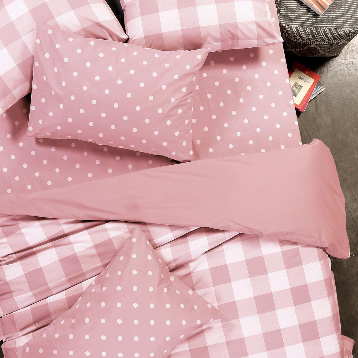 Παπλωματοθήκη Υπέρδιπλη 2 Όψεων Nef-Nef Plaid Pink