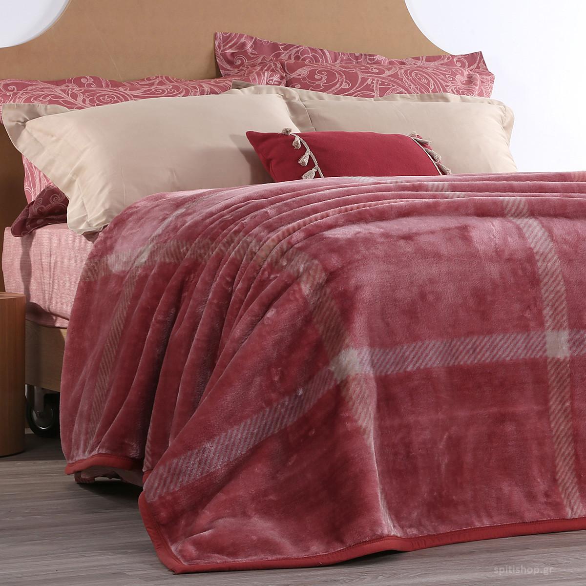 Κουβέρτα Βελουτέ Υπέρδιπλη Nef-Nef Berry Bordo home   κρεβατοκάμαρα   κουβέρτες   κουβέρτες βελουτέ υπέρδιπλες