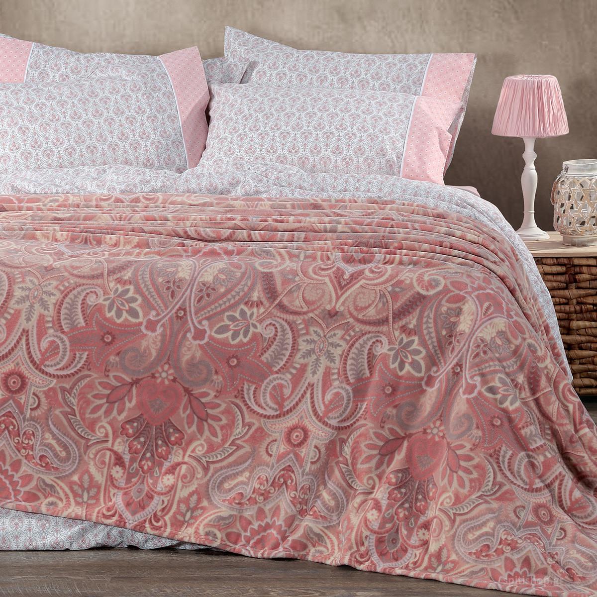 Κουβέρτα Fleece Υπέρδιπλη Nef-Nef Riali Pink