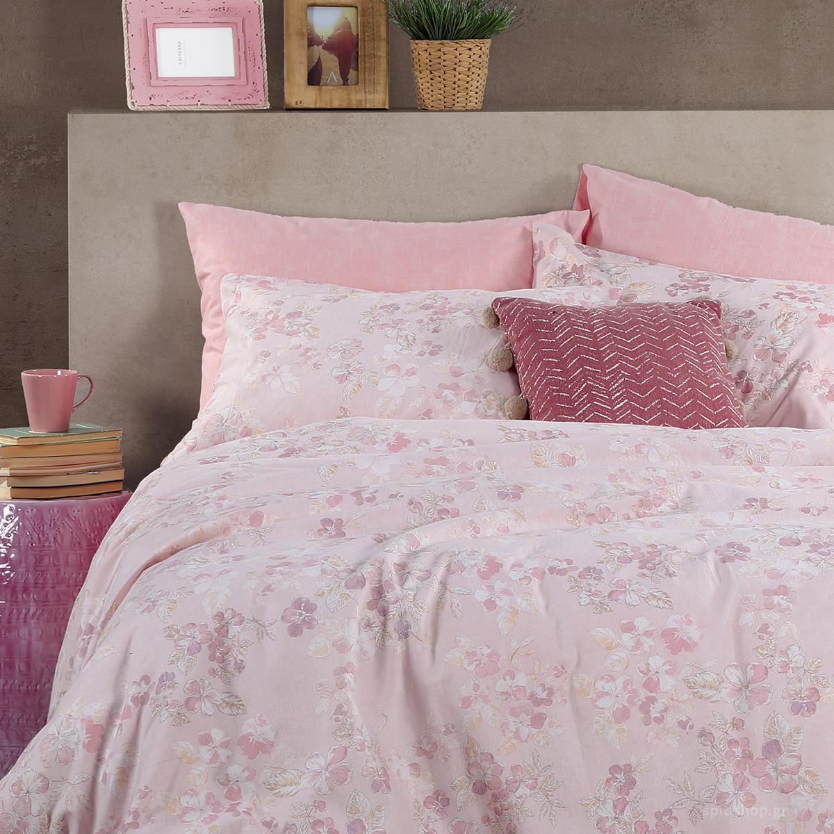 Φανελένια Σεντόνια Υπέρδιπλα (Σετ) Nef-Nef Petoula Pink