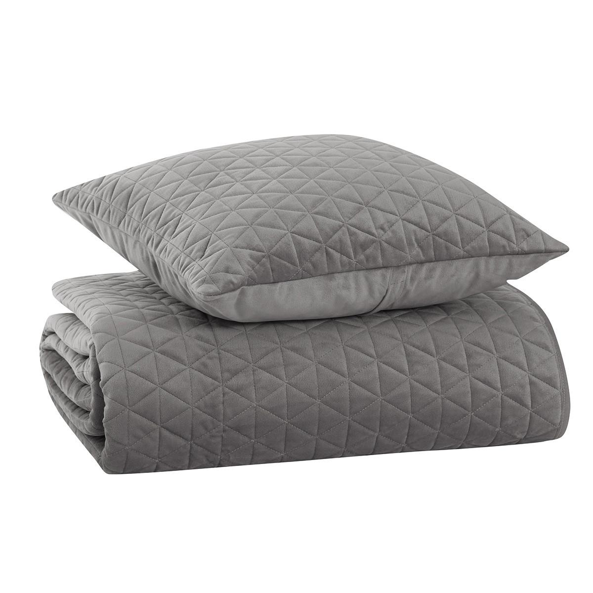 Κουβερλί Υπέρδιπλο Nef-Nef Velvet Sense Grey
