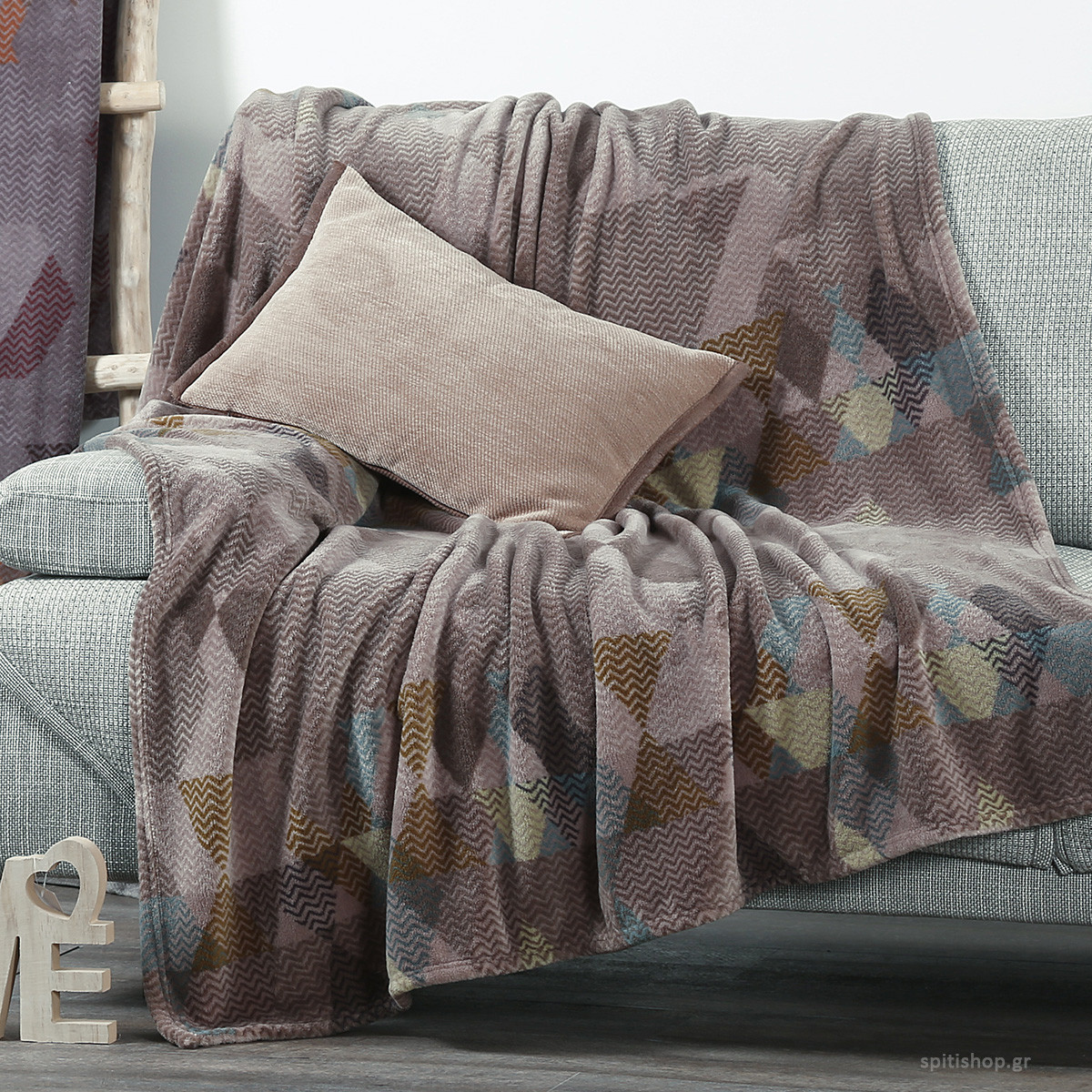 Κουβέρτα Καναπέ Nef-Nef Vitro Beige