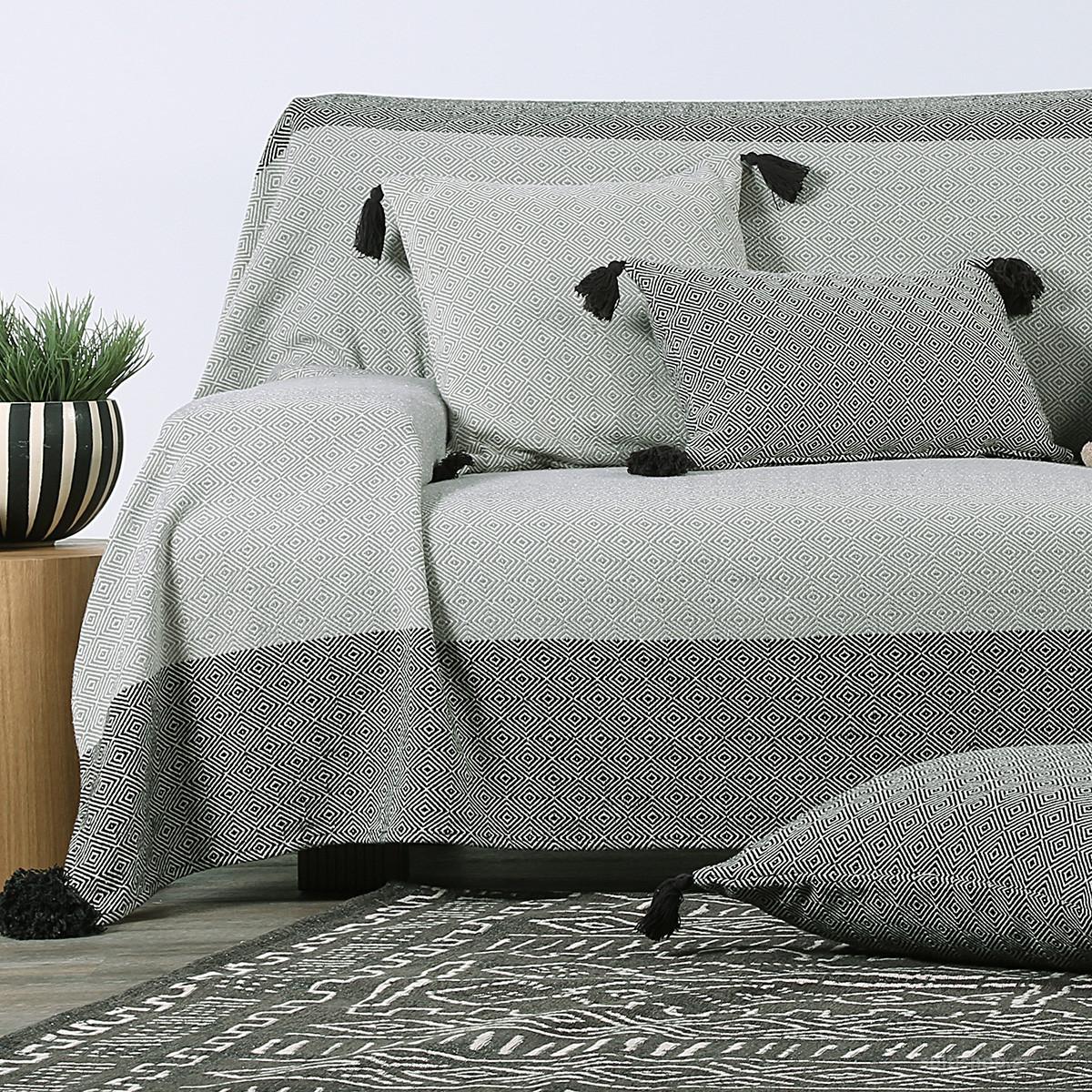 Ριχτάρι Τριθέσιου (180x300) Nef-Nef Diamond Grey/Black
