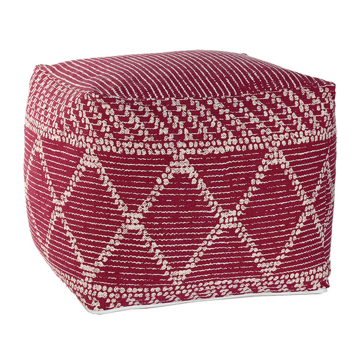 Πουφ Nef-Nef Decore Bordo home   σαλόνι   μαξιλάρες δαπέδου   πουφ