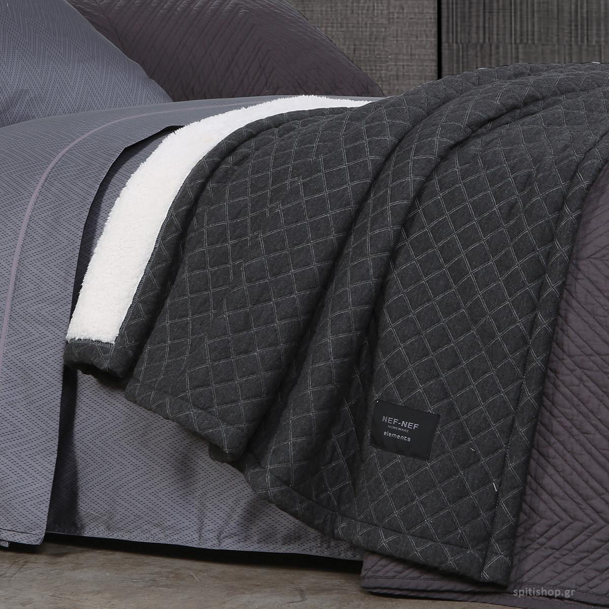 Κουβέρτα Καναπέ Nef-Nef Elements Division Grey