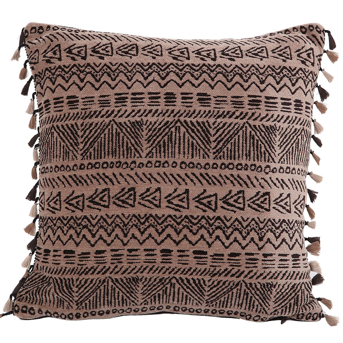 Διακοσμητικό Μαξιλάρι Με Φουντάκια Nef-Nef Africa Beige/Brown